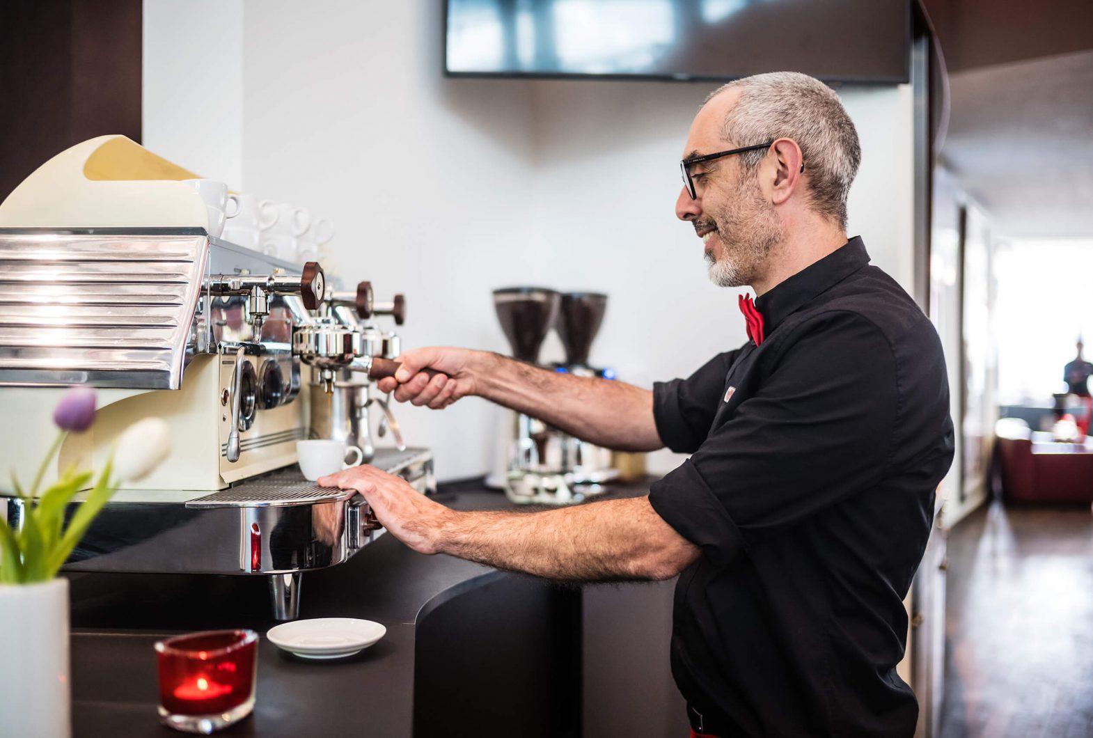 Kaffeegenuss an der Lobbybar